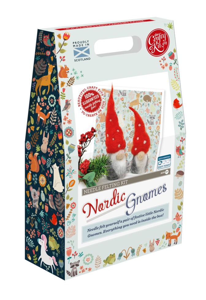 The Crafty Kit Company Nordic Gnomes Needle Felting Kit | The Scottish Company