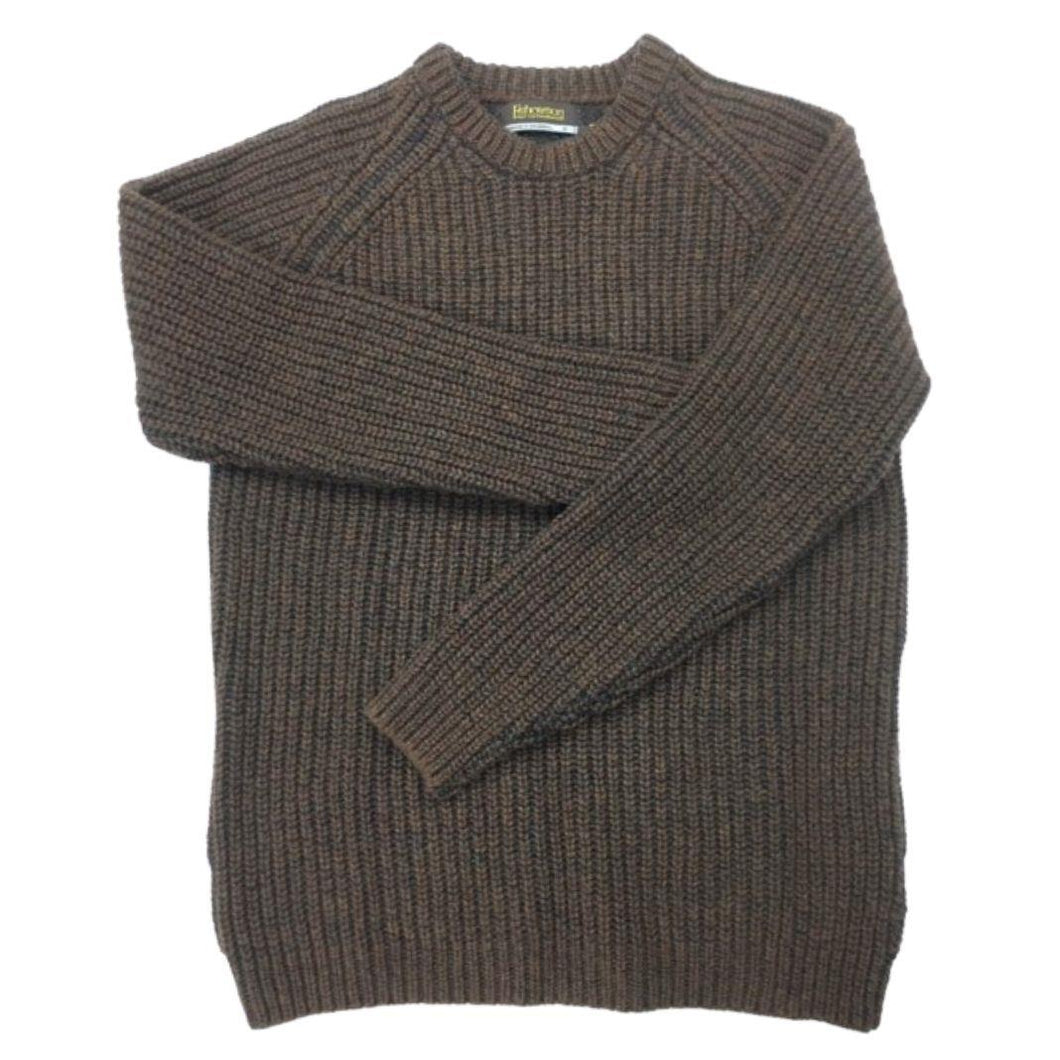 Fisherman out of Ireland ribbed crew neck sweater | The Scottish Company