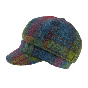 Harris Tweed | Women's Baker Boy Cap - Multicolour