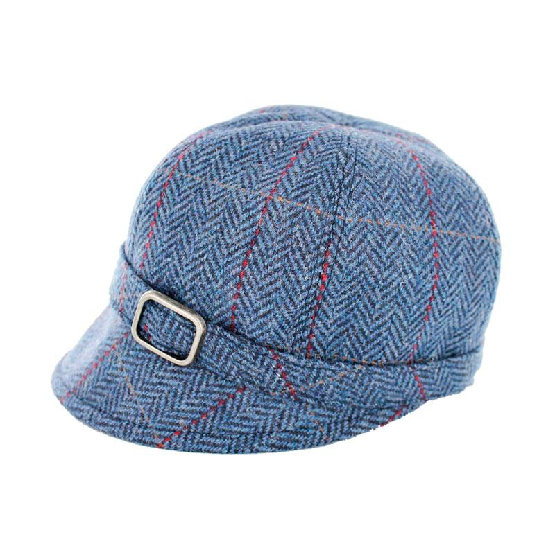 Mucros Blue plaid tweed flapper hat | The Scottish Company