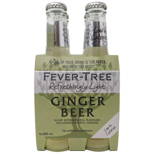 Fever Tree Light Ginger Beer 4 Pk | The Scottish Company