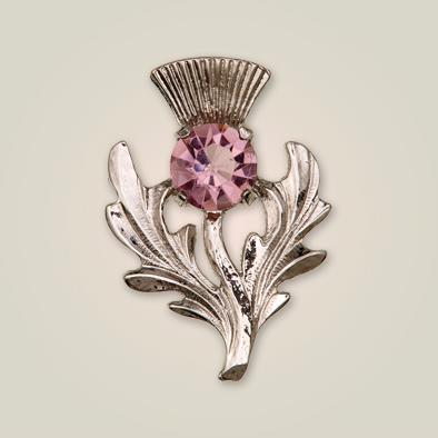 Brooch | Scottish Thistle Amethyst Brooch