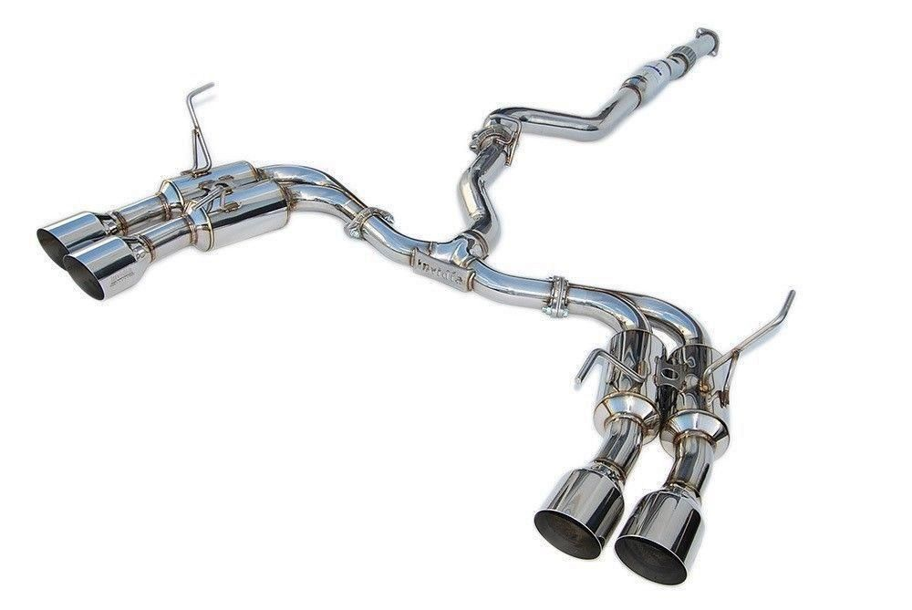 Invidia R400 Gemini Quad Tip Cat-Back Exhaust - 2008-2014 Subaru WRX/STi Hatchback