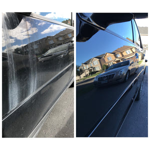 before and after picture of a detailing service in ottawa, ON Gatineau, QC