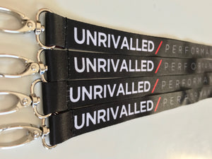 Unrivalled Performance Lanyards - Black/Red Edition