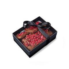 French Candied Orange & Cranberry Peanut Brittle with Milk Chocolate - 350g