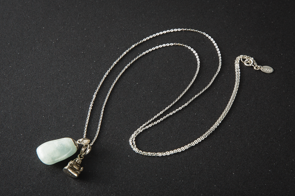 Aquamarine with Sitting Buddha