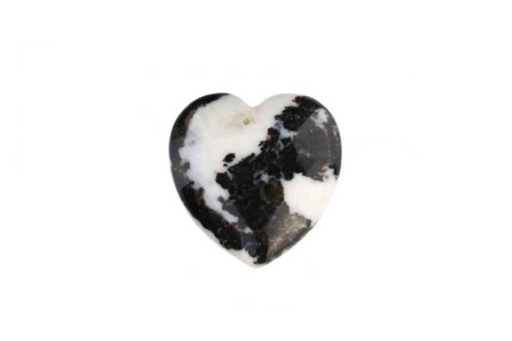 zebra jasper puffy heart