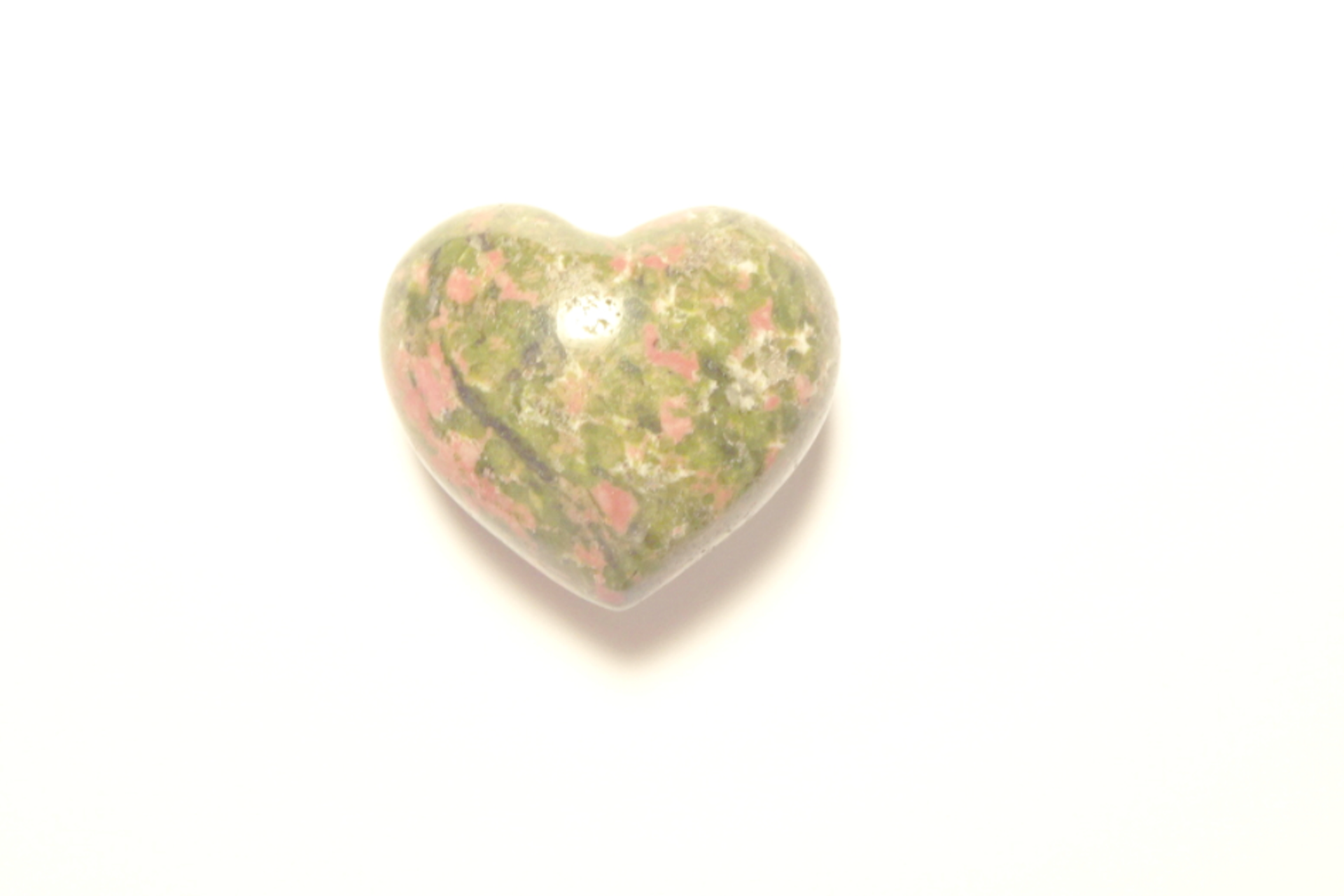 unakite jasper puffy heart