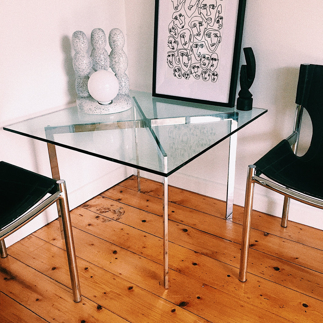 MODERN CHROME SIDE TABLE