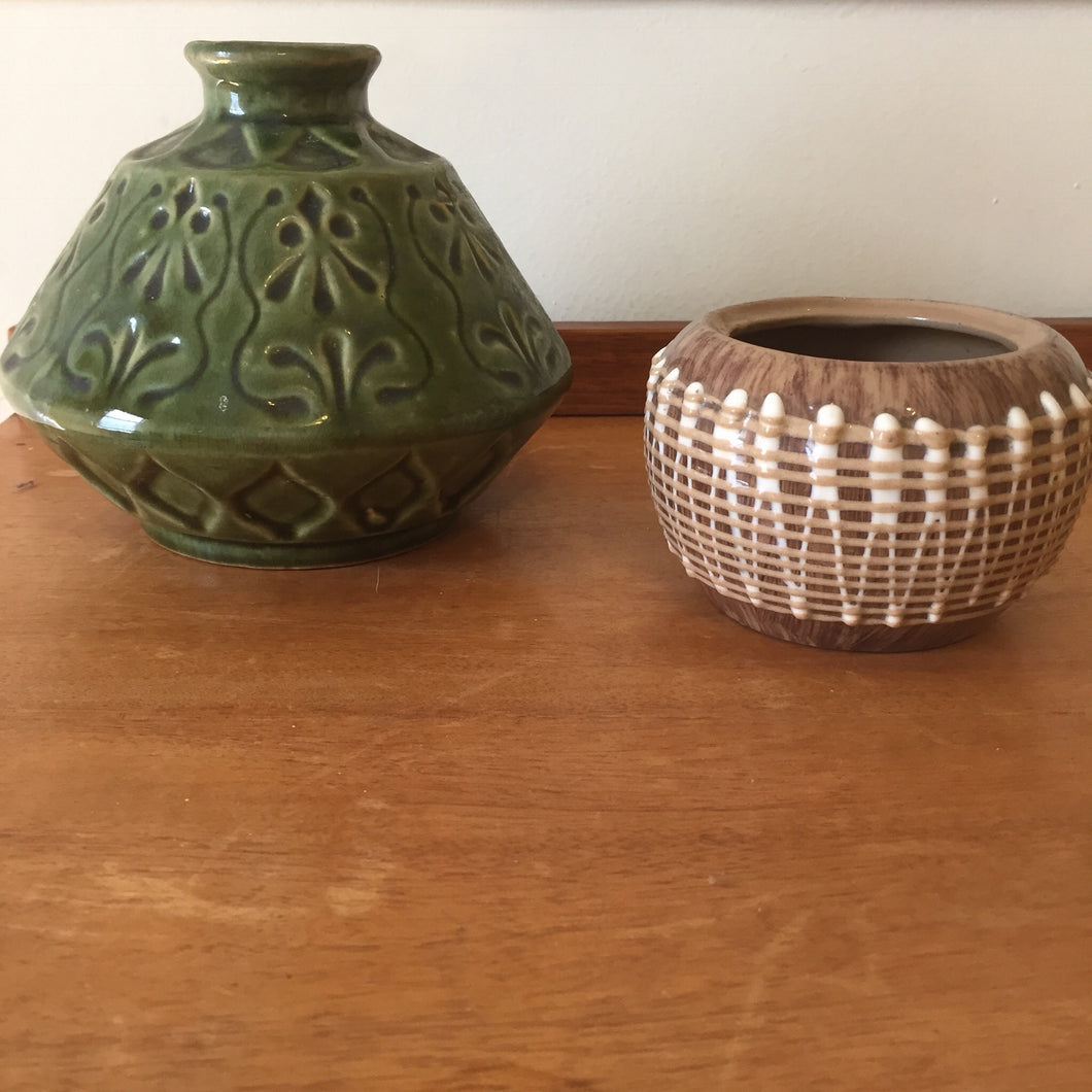 PAIR OF 60's CERAMIC VASES