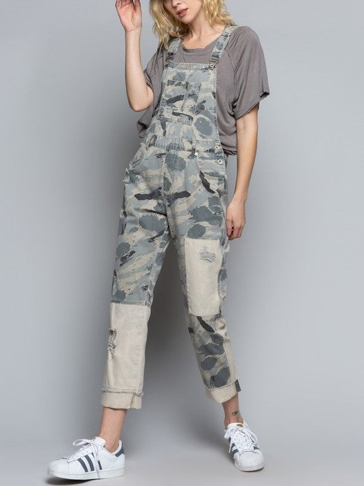 Grey Camo Patch Overall