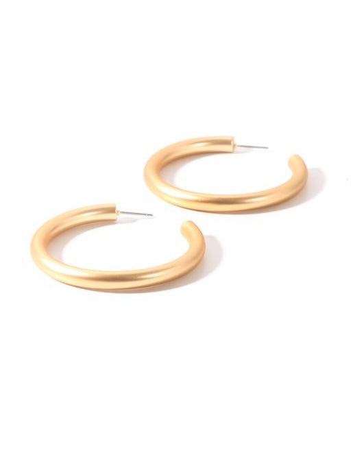Matte Hoop Earrings