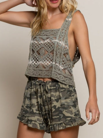 Rock & Love Camo Top