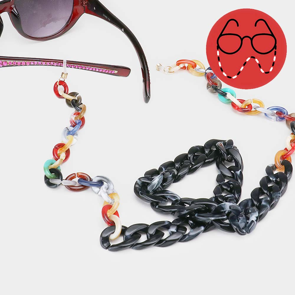 Acrylic Mix Sunglass Chain