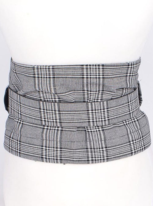 Plaid Corset Belt
