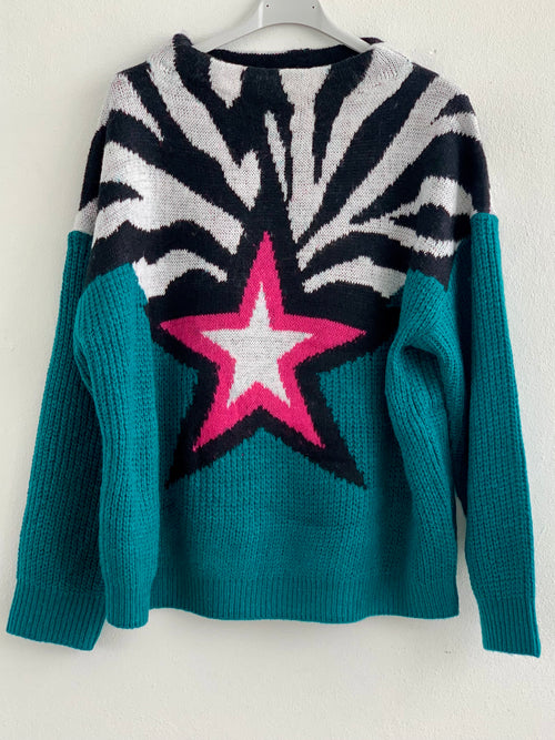 Zebra Star Sweater