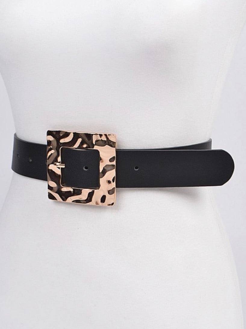 Rectangle Glossy Hammered Belt
