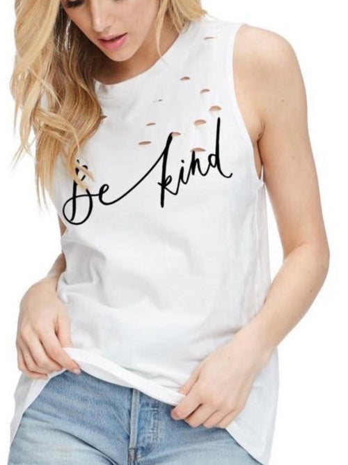 Message Distressed Muscle Tee