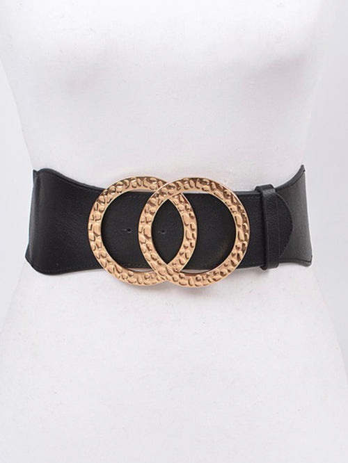 Hammered Metal Loop Belt