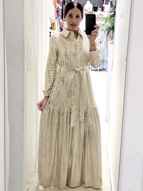 Gold Tiered Maxi