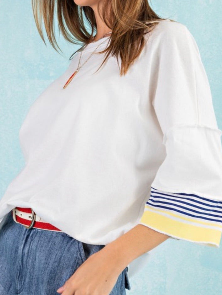 Stripes Detail Boxy Top