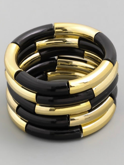 Color Block Stretch Bangles