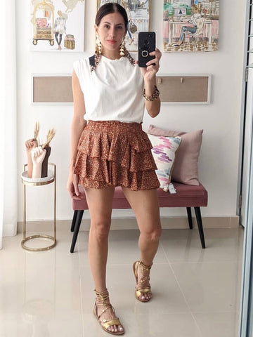 Knit Top with Long Fringes