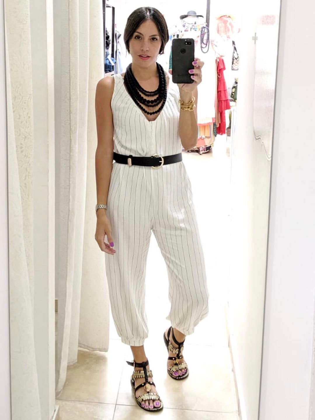 Striped Jogger Jumpsuit