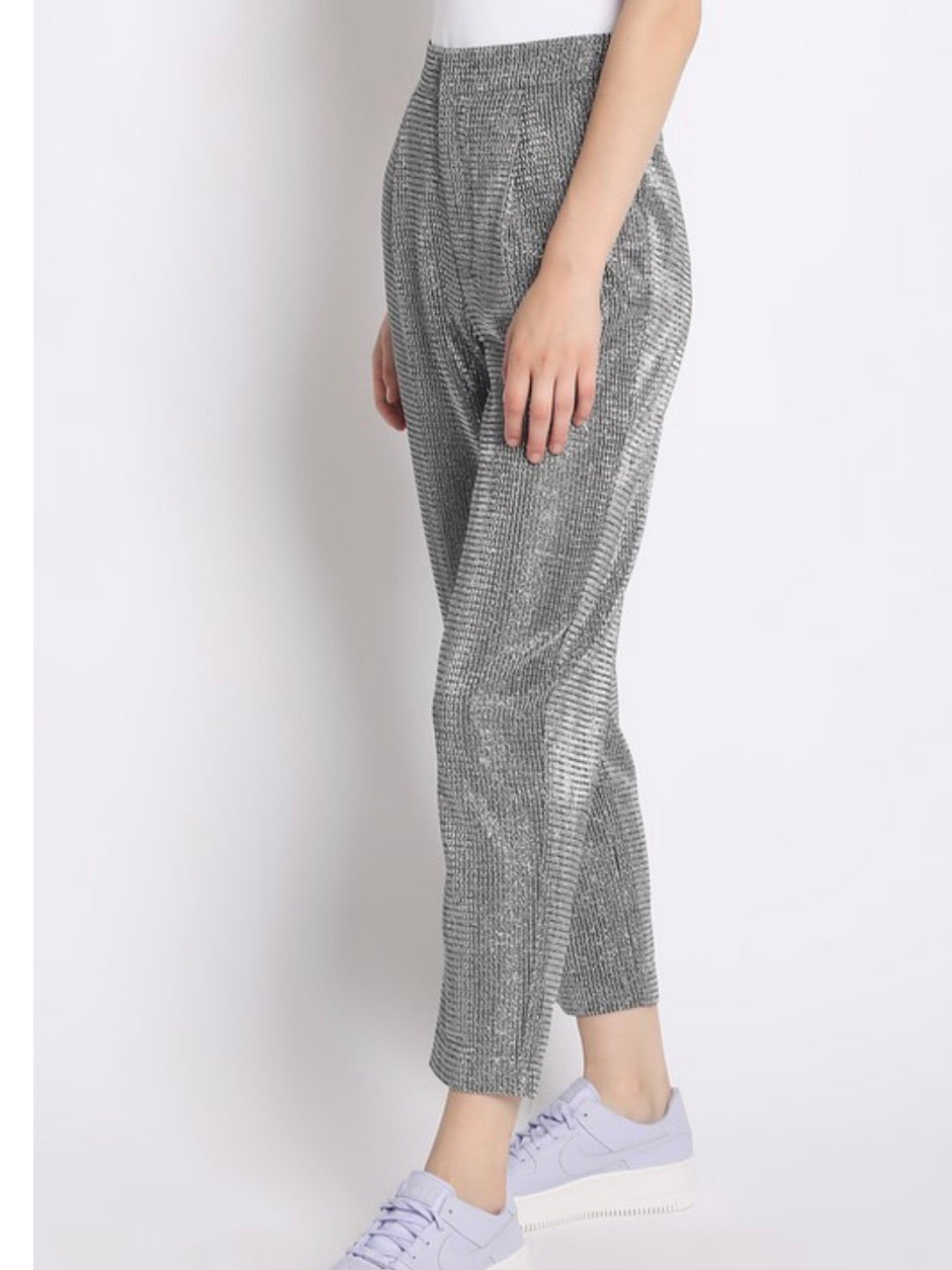Silver Metallic Trousers