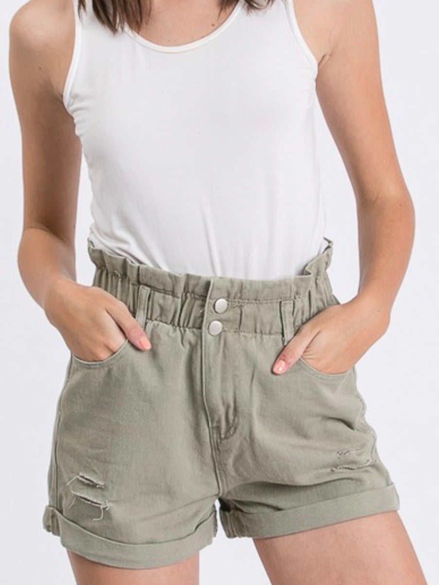 High Waist Khaki Pants