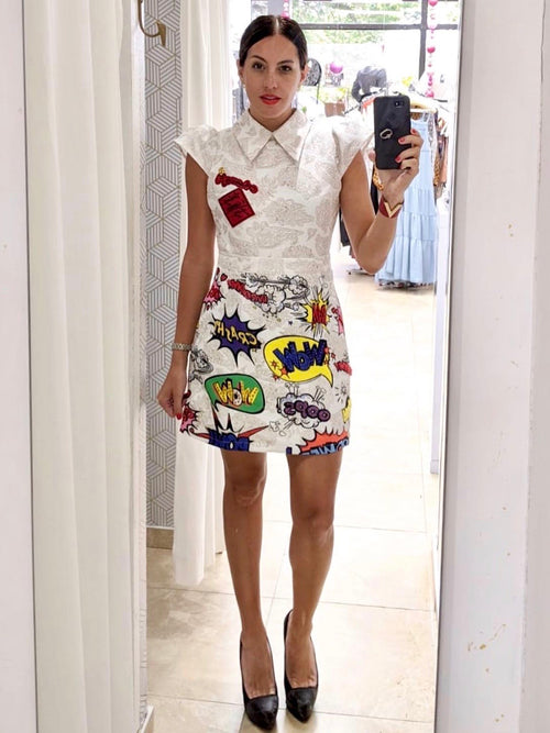 Pop Art Collar Dress