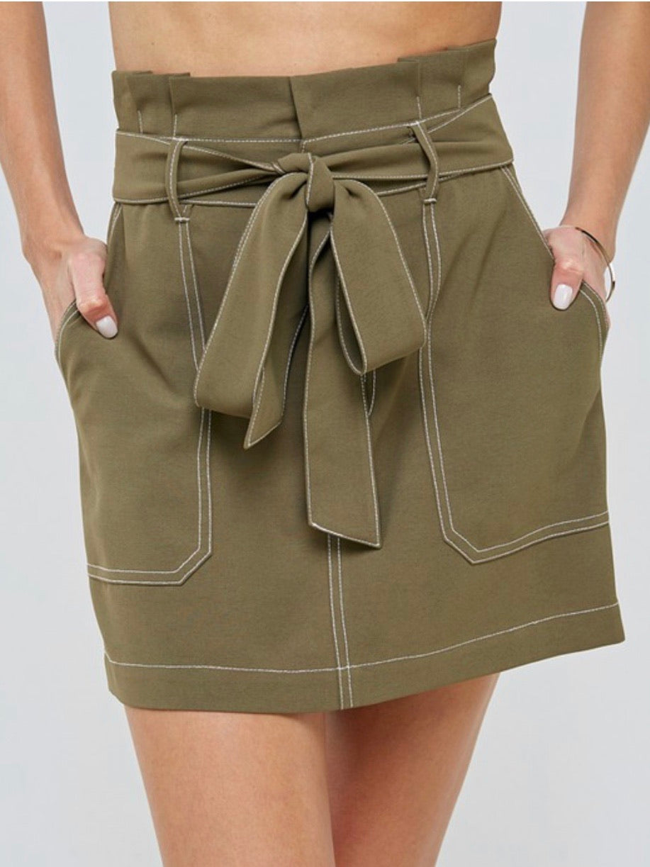 Stitch Detail Mini Skirt