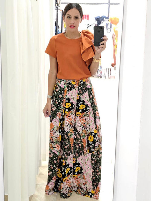 Floral Pleated Palazzo