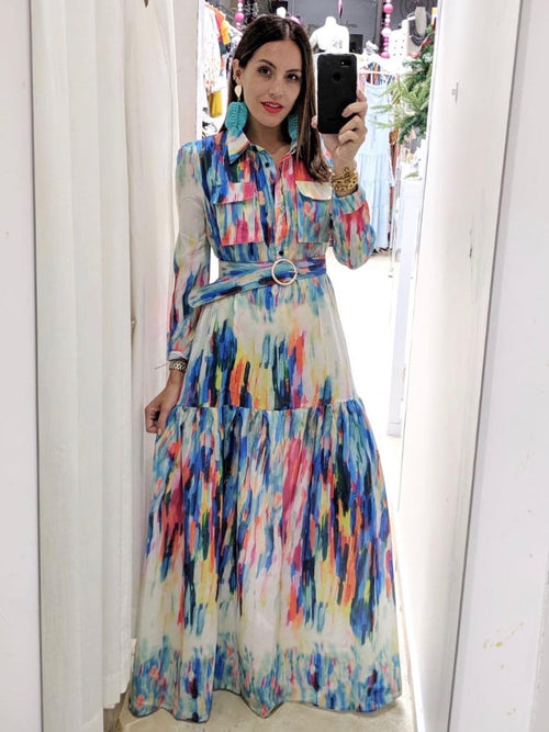 Color Spectrum Tiered Maxi