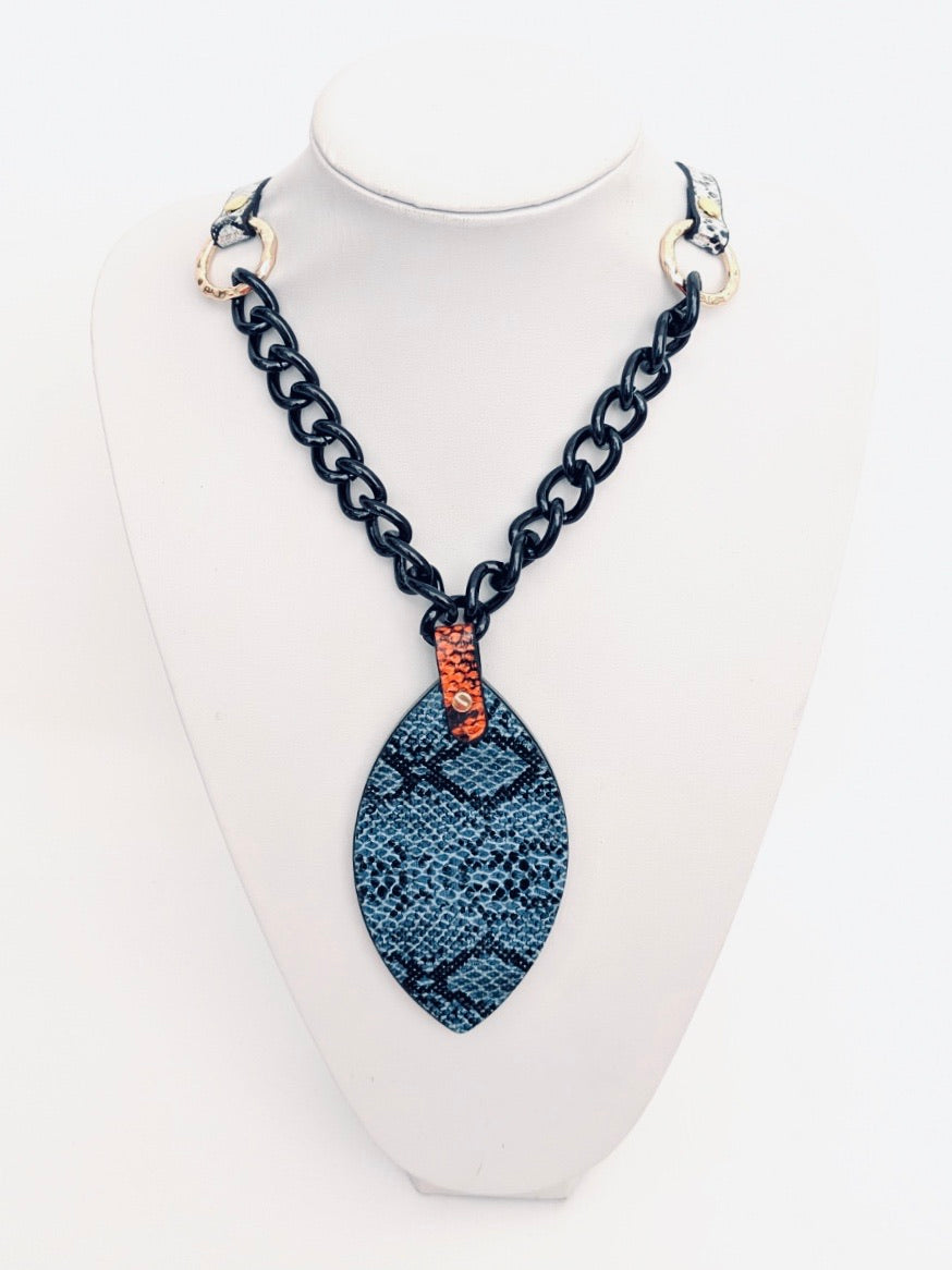 Snakeprint Long Necklaces