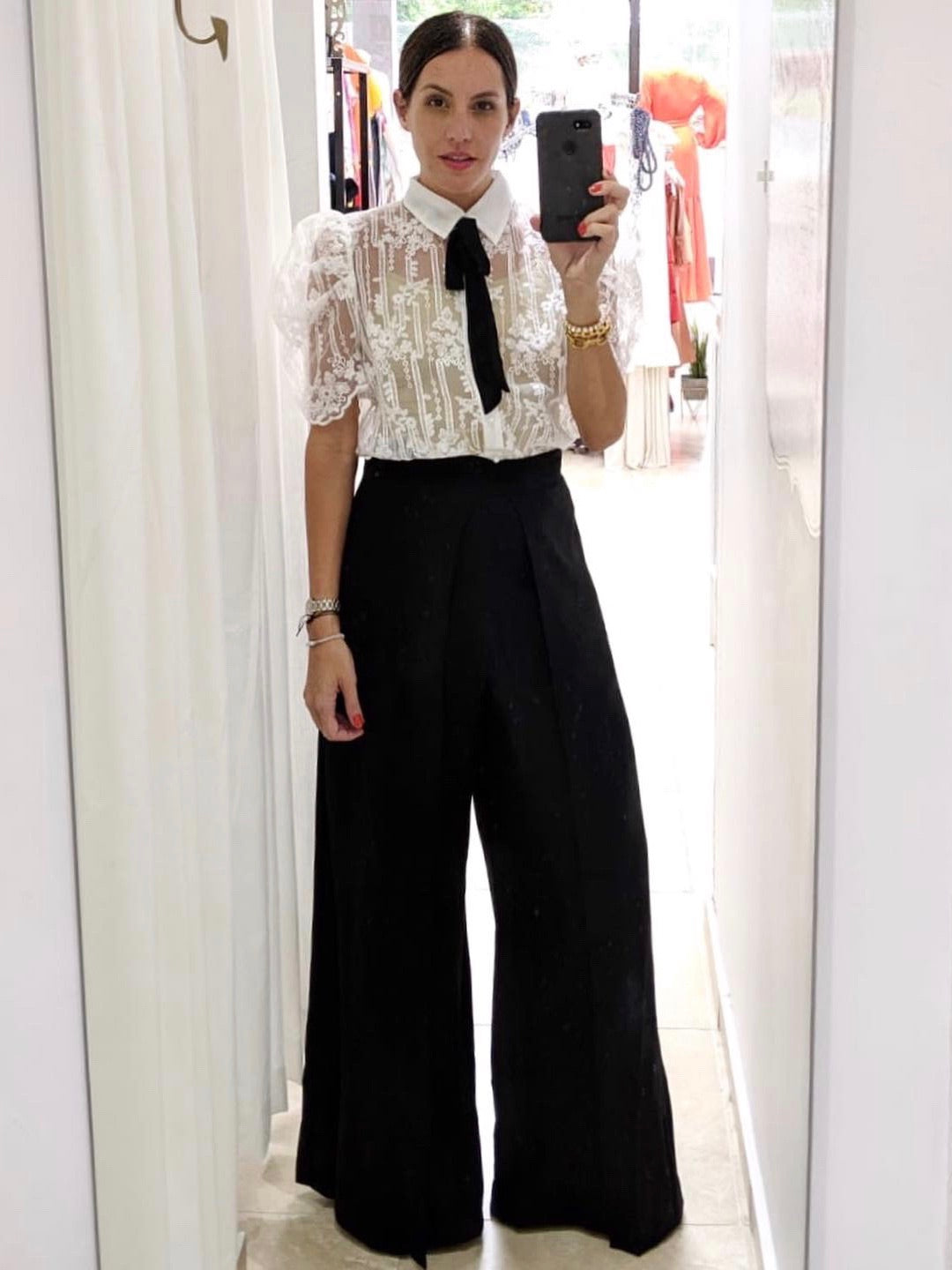 Wide Pleat Palazzo Pants