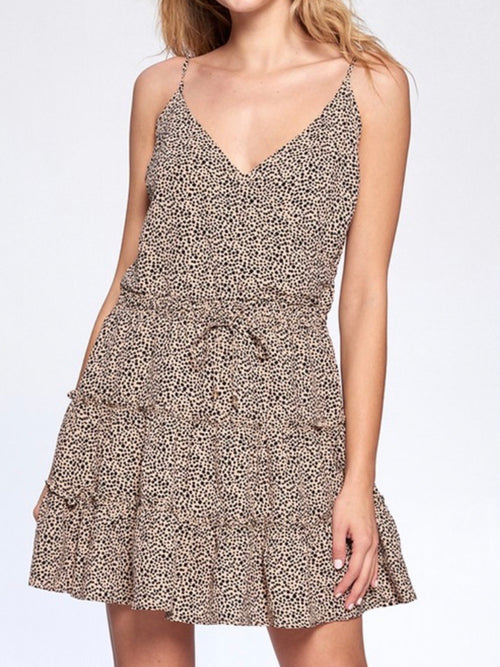 Leopard Strappy Mini Dress