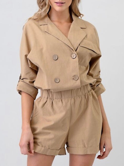 Tencel Collared Romper