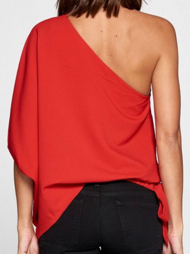 One Shoulder Draped Top