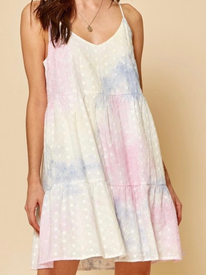 Tie Dye Eyelet Swift Dress