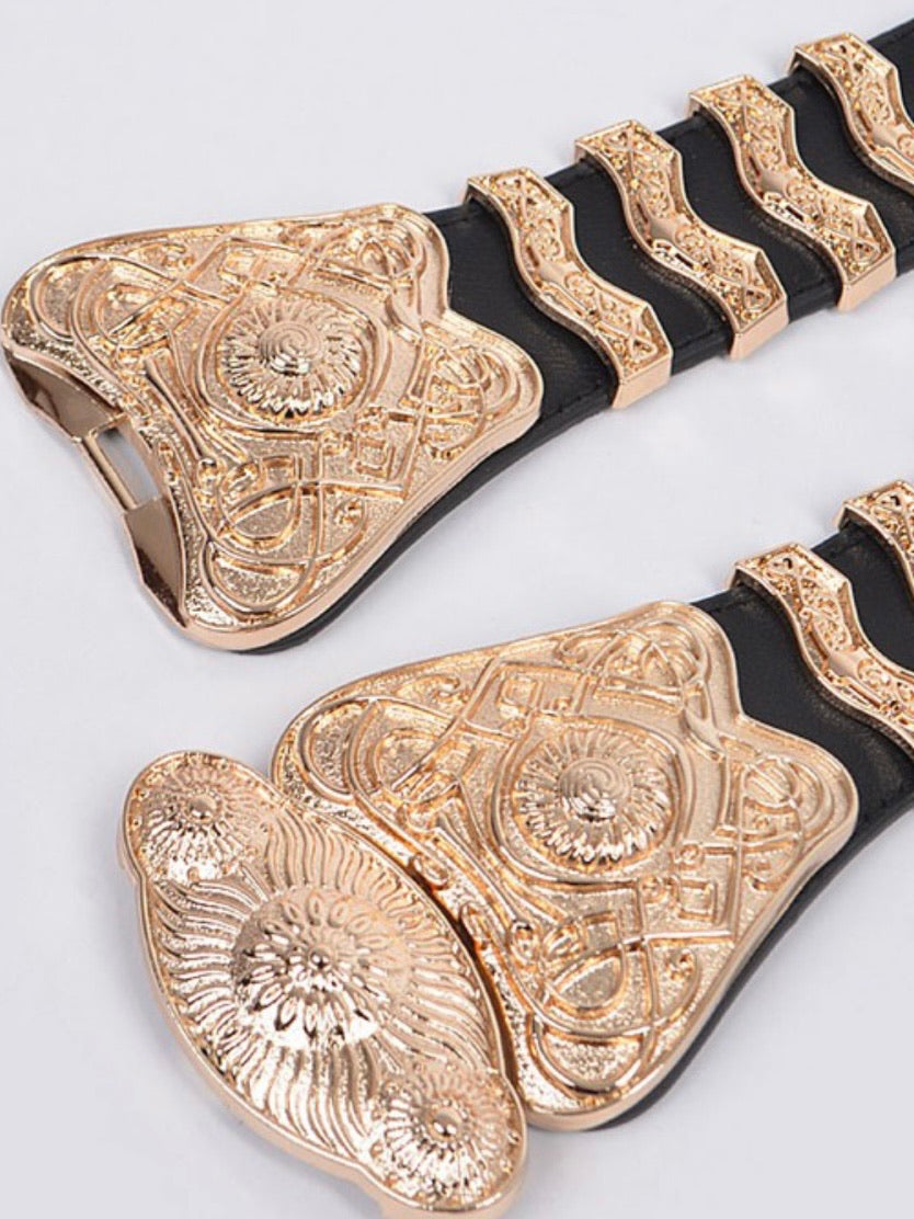 Aztec Metal Buckle Elastic Belt