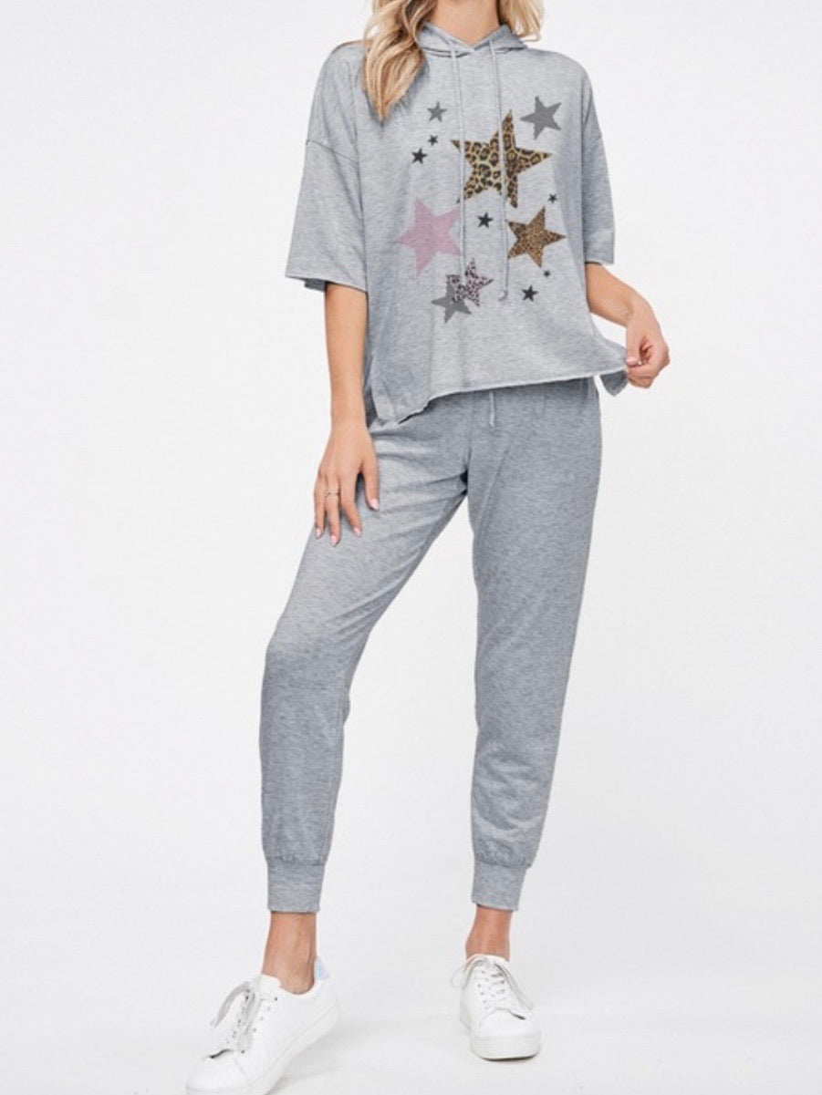 Leopard Star PJ Set