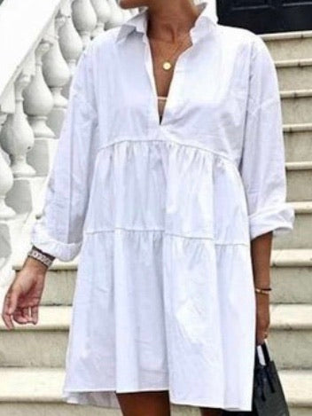 Button Down Blouse Dress
