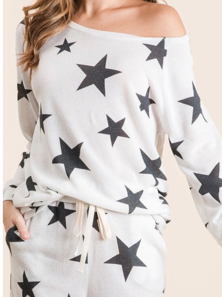 Star Short Loungewear Set