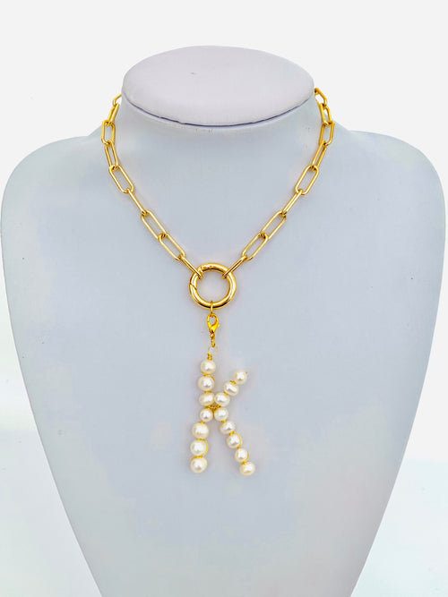 Pearl Initials Necklace