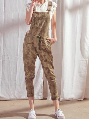 Tie Dye Color Block Jogger Jumpsuit