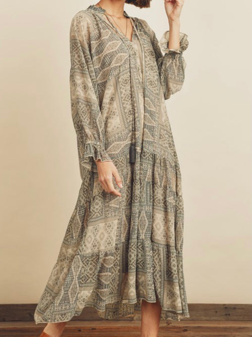 Seagreen Patchwork Maxi Dress