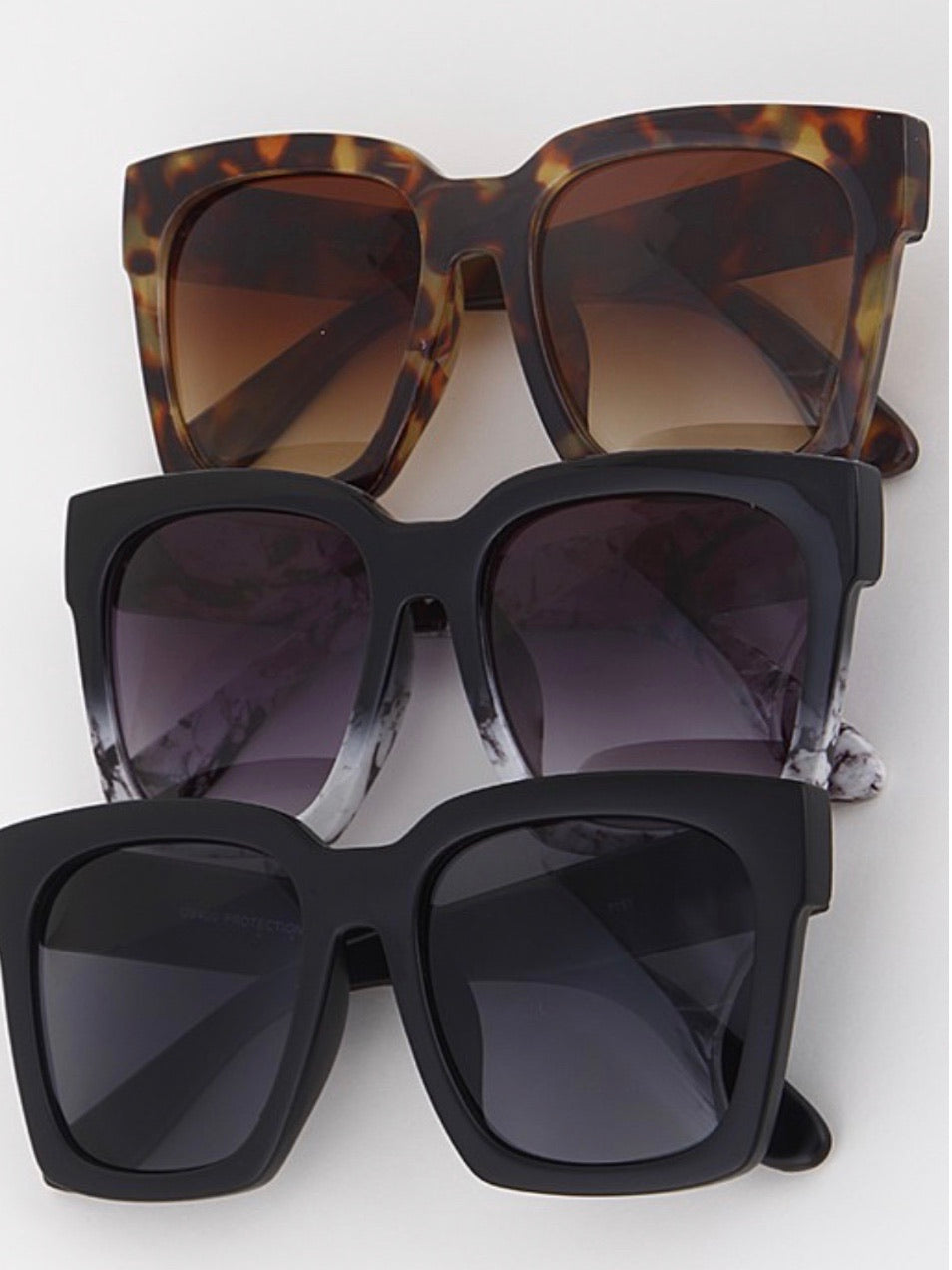 Large Chic Square Sunglasses