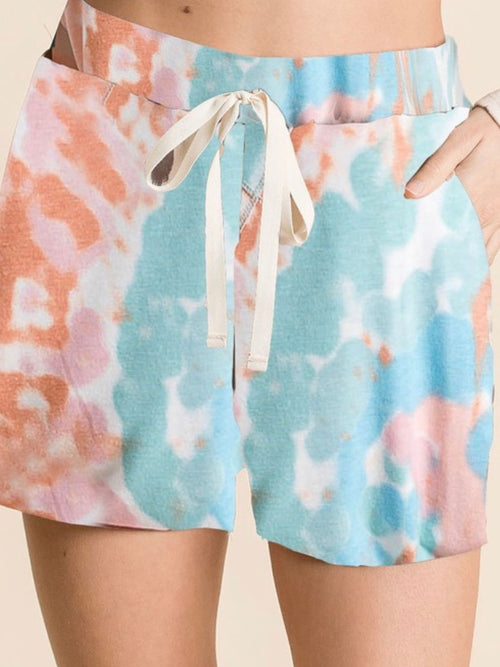 Fun Tie Dye Short Loungewear Set